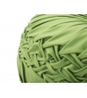 Pouf Rotondo Basso Plissè Verde Ø 48X25 cm