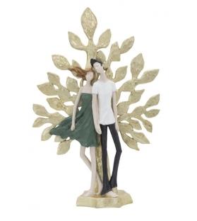 Statua Coppia Innamorati Albero della Vita Resina h52 cm