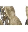 Scultura Metallo Oro Cerchie e Specchi 50X7X42