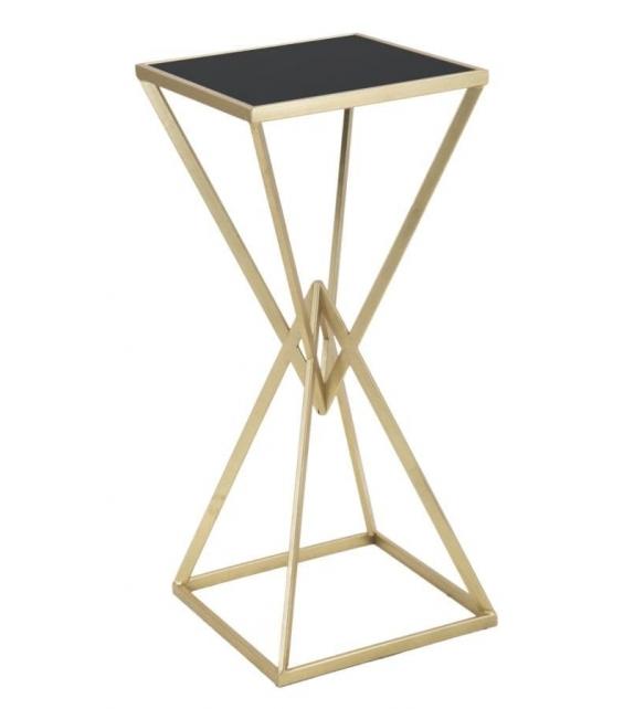 Colonna Porta Vaso / Tavolino alto Gold Glam 35x35x80 cm