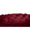 Pouf Sgabello Amelie Peluche Bordeaux Ø 40,5X46,5 cm