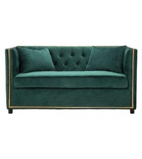 Divano 2 posti Luxury Velluto Verde