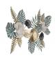 Pannello decorativo da parete Amazon Metallo 115X6X70 cm