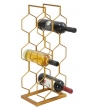 Porta Bottiglie Vino da Parete Glam 6 Posti 71X8,5X57 cm