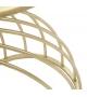 Tavolino Tail Design Metallo con vetro nero Ø 35 X h 60 cm