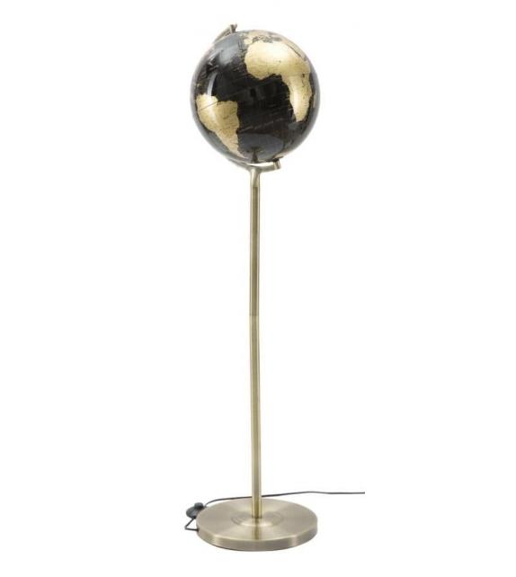 Lampada da terra Mappamondo Nero Oro Ø 40 X h130 cm