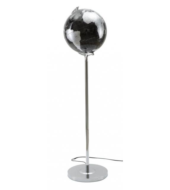 Lampada da terra Mappamondo Nero Silver Ø 40 X h130 cm
