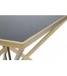 Comodino Pyramid Metallo Vetro nero 50X50X45
