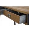 Consolle Boston Legno Gambe Metallo 125x40x75