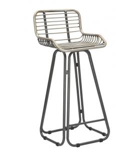 Sgabello Bar Stripes Metallo 45x45x102