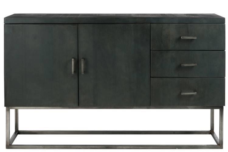 Credenza Moderna Marrone : Credenza in legno ante cassetti marrone scuro grigio