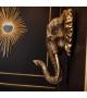 Testa di Elefante Dorata Resina Decorazione da Parete 41x23x43cm