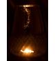 Vaso Porta Candela Riga Vetro Sfumato Oro L 20x20x26 cm