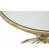 Tavolino basso Hypnos Metallo dorato Piano specchio Ø 42X50 cm