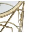 Tavolino Tunisi Metallo dorato 3 ripiani vetro Ø 35X71 cm
