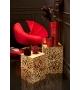 Tavolini Set Metallo Oro Coral h37-h42 cm