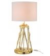 Lampada da Tavolo Design Uomini Abbracciati Resina Oro 36x73x36 cm
