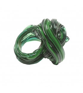 Anello Spaghetti Ring in resina morbida Clear Green