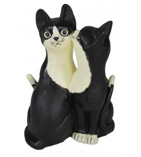 Gatti innamorati bianco nero