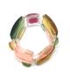 Bracciale Pietre doppio in resina Corsari Rosa Giallo Verde