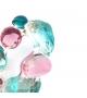 Bracciale Pietre singolo in resina Corsari Verde Rosa Giallo