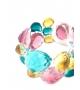 Bracciale Pietre Doppio in resina Corsari Verde Rosa Giallo
