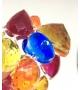 Bracciale Pietre Doppio in resina Corsari Giallo Rosso Blu Arancione
