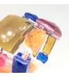 Bracciale Pietre Doppio Piatto in resina Corsari Rosso Arancione Blu