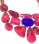 Collana Collier Pietre in resina Corsari Rosso Viola Giallo