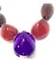 Collana Big Stones in resina Corsari Rosso Viola Giallo
