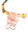 Collana Deco Collier in resina Corsari Rosa Giallo Verde