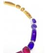 Collana Filo Pietre in resina Corsari Rosso Blu Giallo