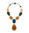 Collana Big Stones in resina Corsari Giallo Verde Arancione
