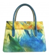 Borsa a mano Melted con manici in ecopelle