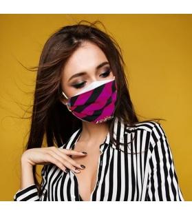 Cover per mascherina Black&Fucsia Altamoda
