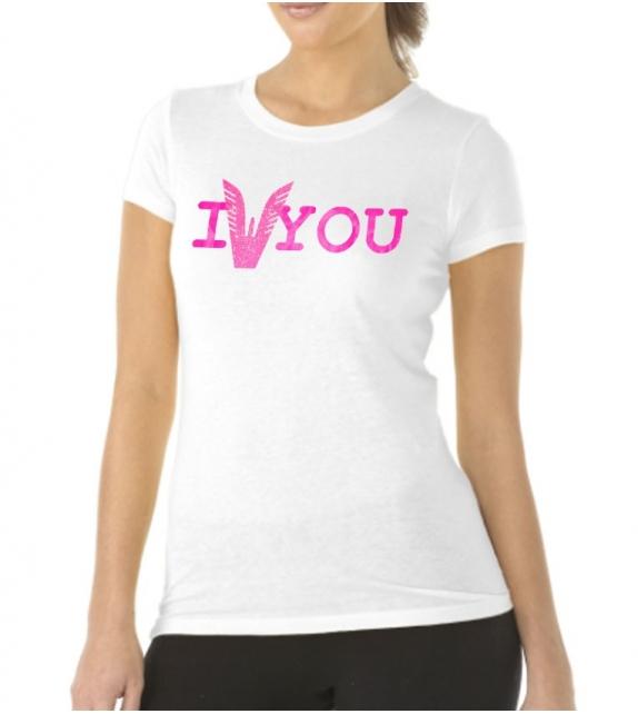 T-shirt Altamoda bianco fucsia
