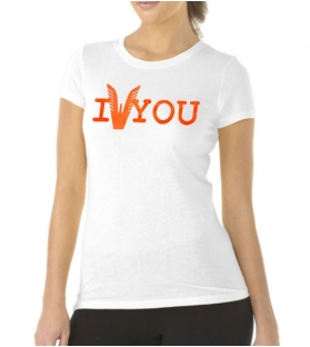 T-shirt Altamoda bianco arancione fluo
