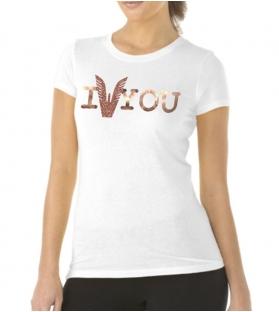 T-shirt Altamoda bianco rosa cipria