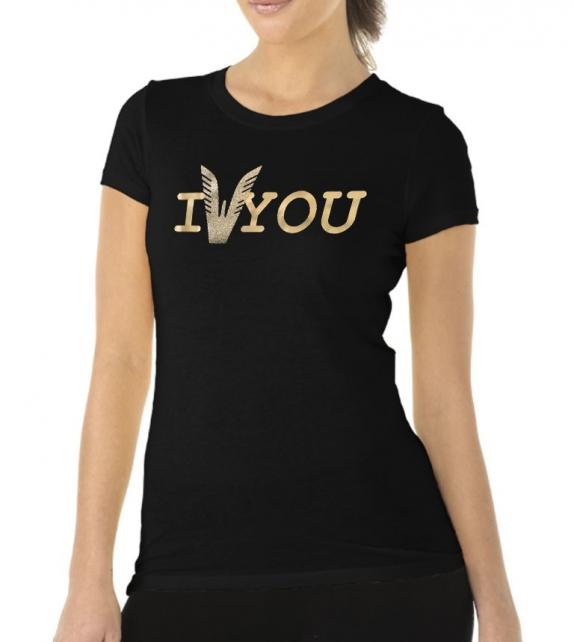 T-shirt Altamoda nero oro