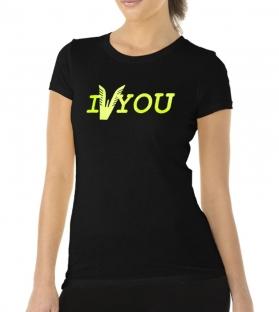 T-shirt Altamoda nero giallo fluo
