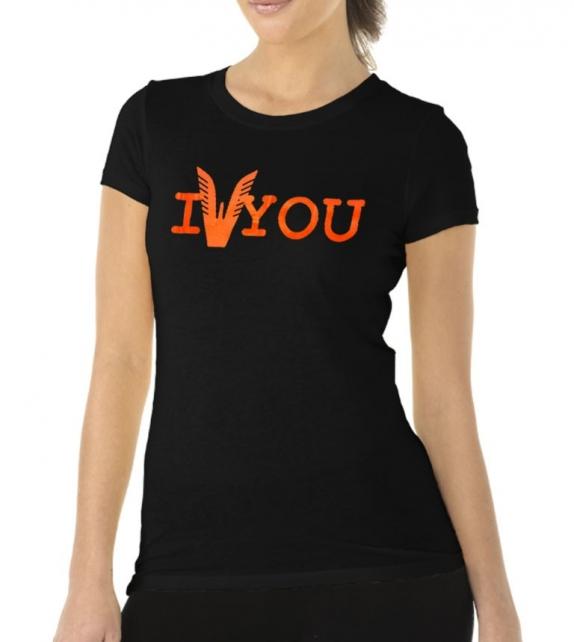 T-shirt Altamoda nero arancione fluo