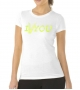 T-shirt Altamoda bianco giallo fluo