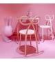Sedia Rabbit Chair Qeebo rosa per bambini