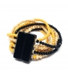 Bracciale Swarovski giallo con chiusura magnete