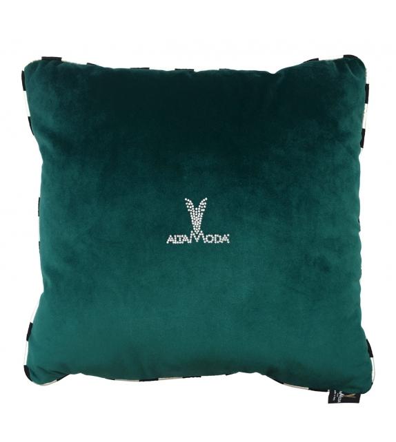 Cuscino Altamoda velluto verde petrolio 40x40 cm