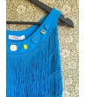 Vestito Charleston Azzurro con Pietre