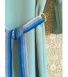 Vestito Aqua con cintura lurex