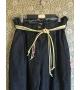 Pantaloni Jeans con cintura fluo