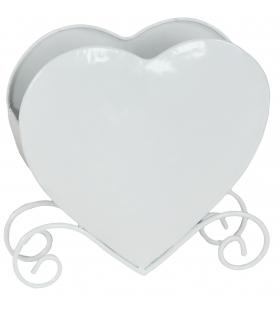 Porta Tovaglioli Cuore Hope Bianco