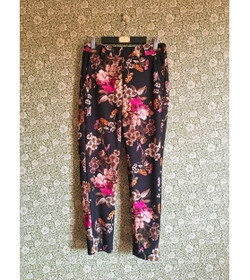 Pantalone Nero Fiori
